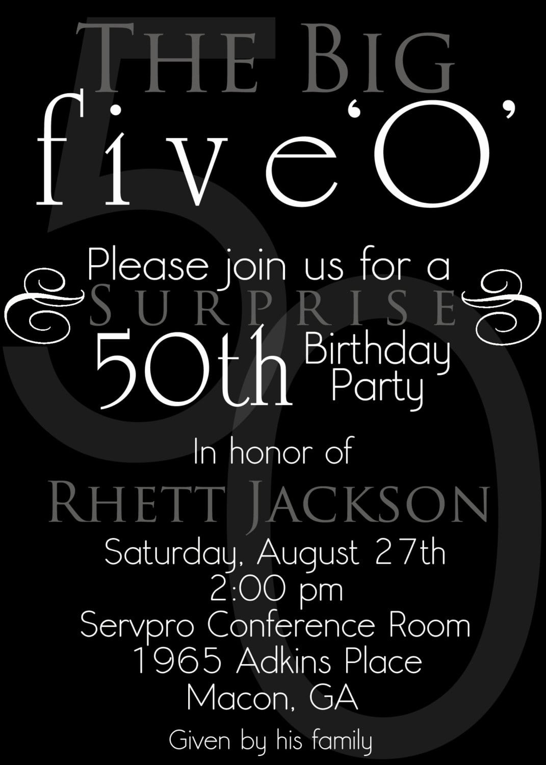 50th Birthday Party Invites Cards Ideas With 50th Birthday Party