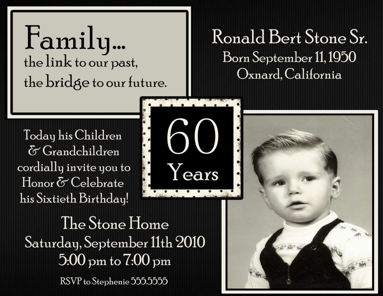 60 Birthday Invitations   Mncd Info