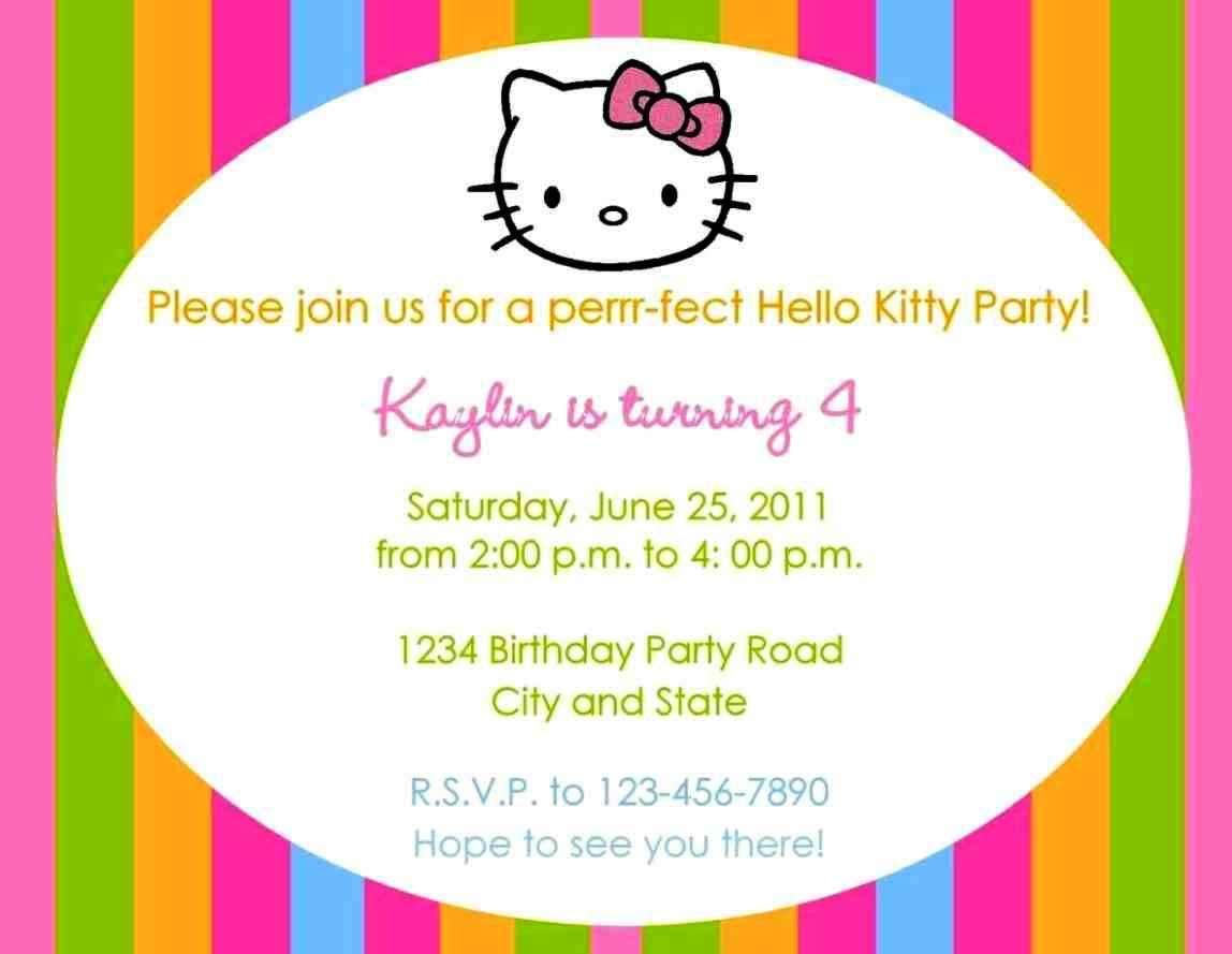 6th Birthday Party Invitation Wording