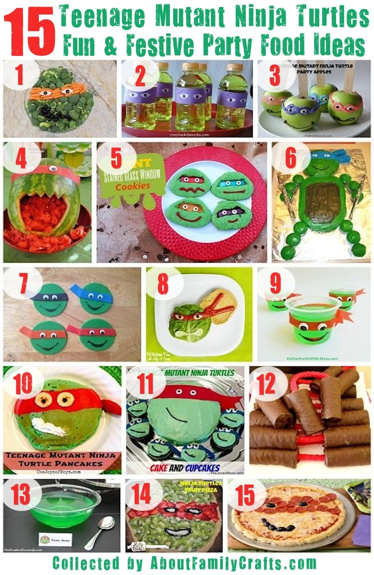 75+ Diy Teenage Mutant Ninja Turtles Birthday Party Ideas – About