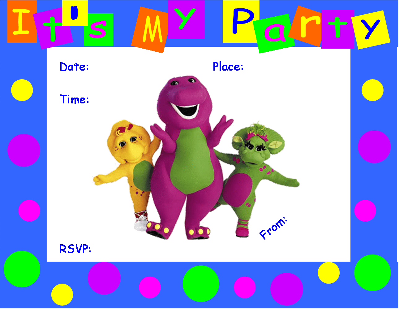78 Best Images About Barney The Dinosaur Party On Pinterest