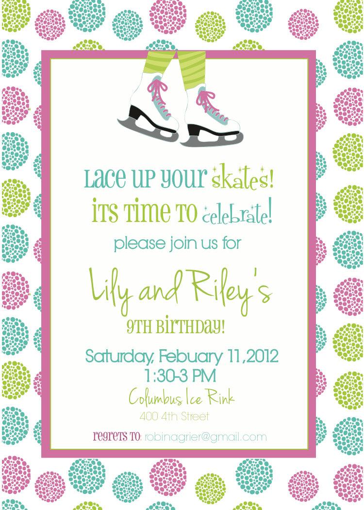 Fine Skating Party Invites Gallery - Invitation Card Ideas ...