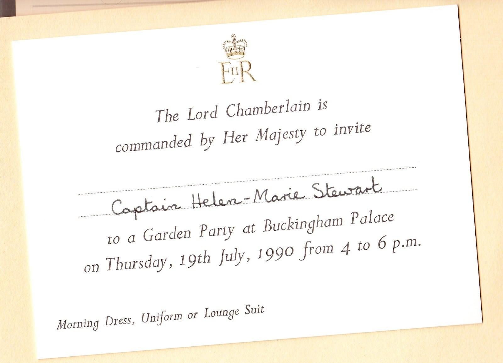 7 Fabulous Buckingham Palace Garden Party Invitation