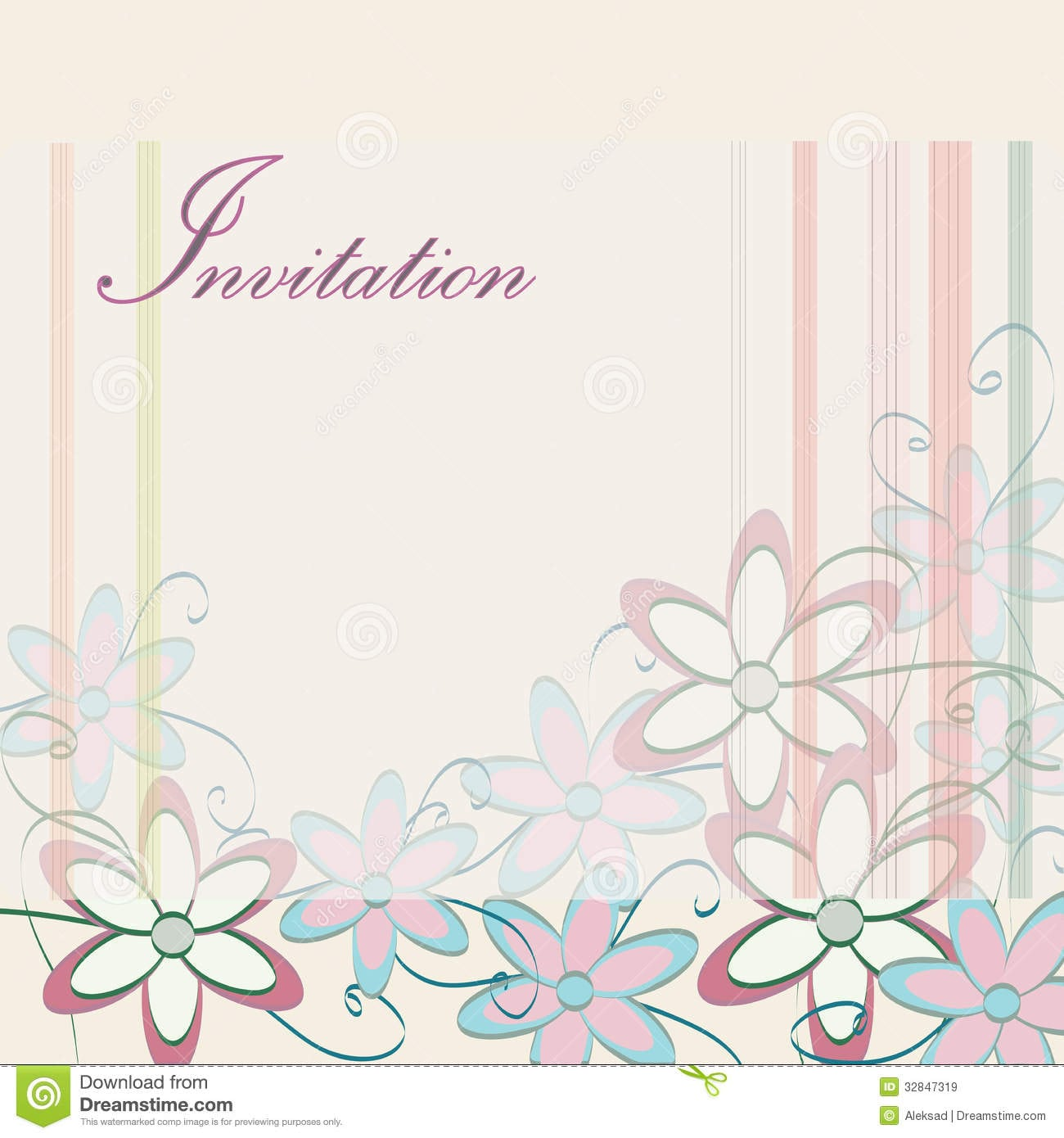 7 Fancy Party Invitation Card Template Free Download