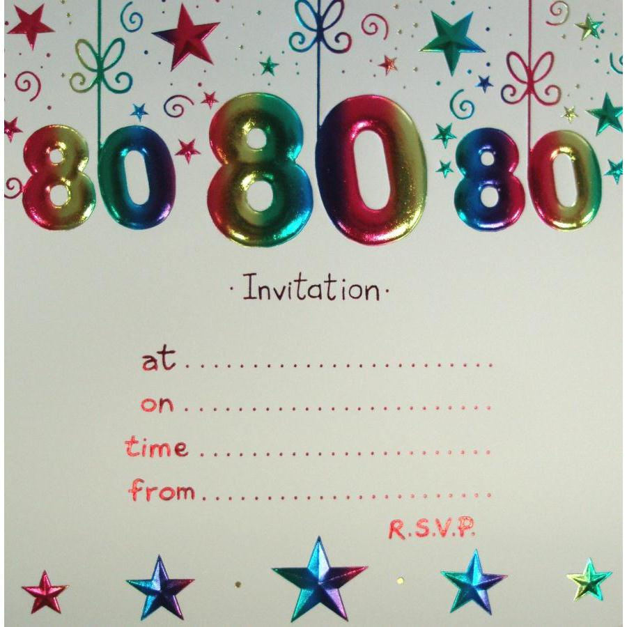 80th birthday invitation silver glitter cheers to 80 years birthday ...