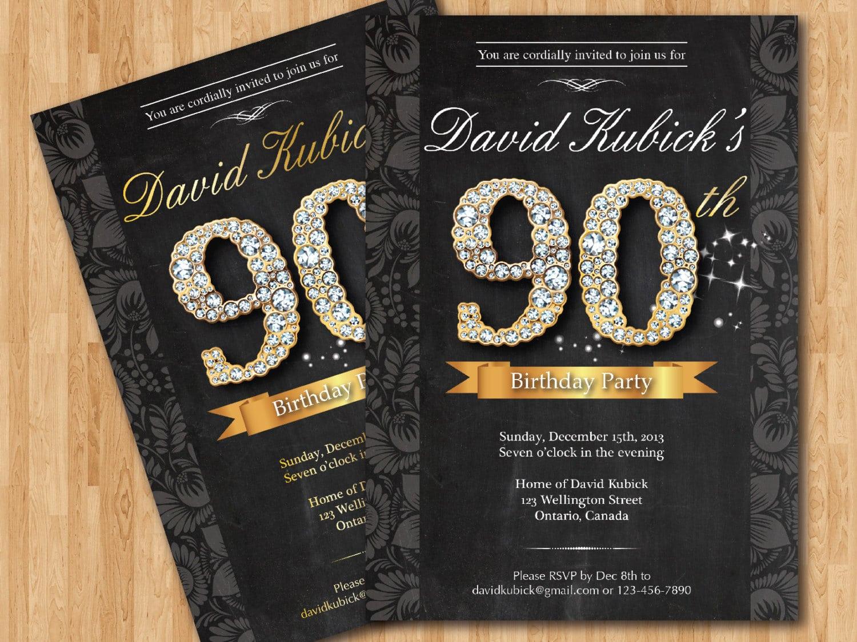 90th Birthday Party Invitations – Gangcraft Net