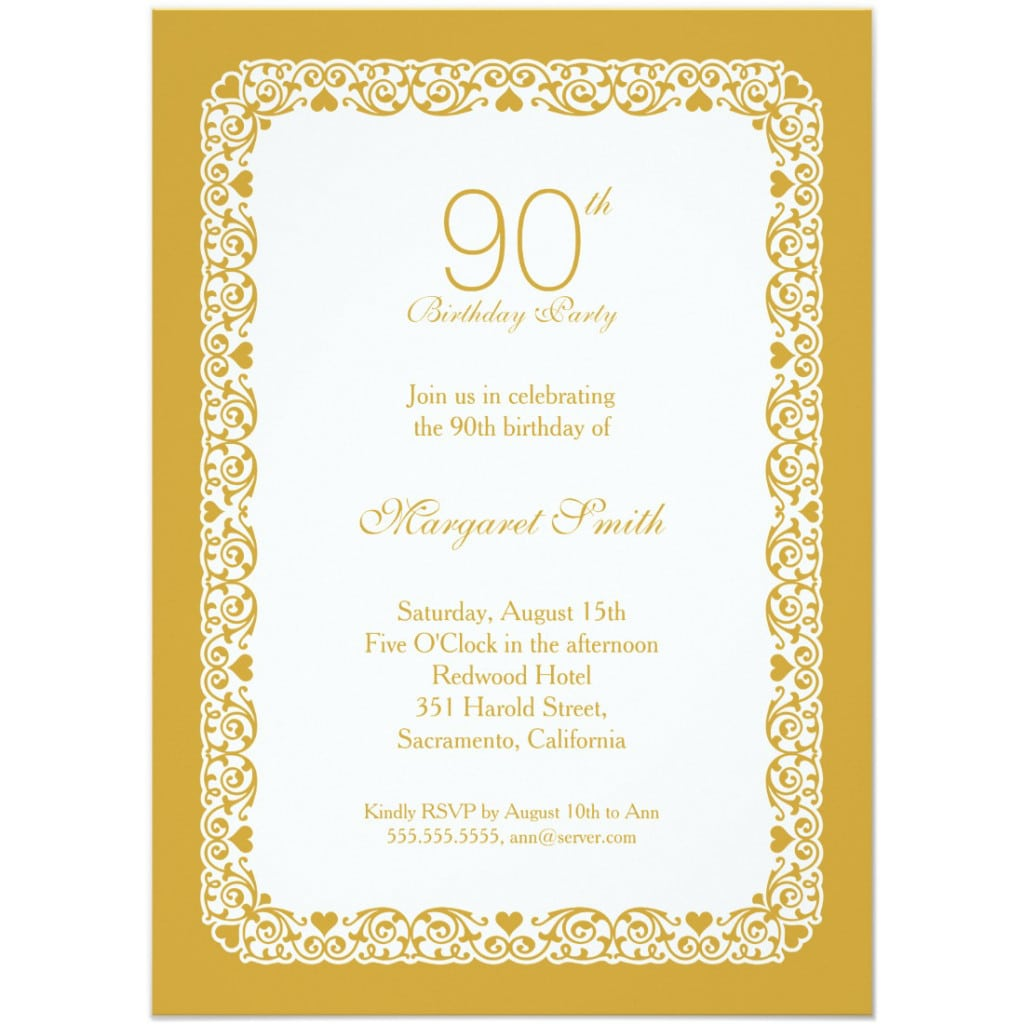 90th Birthday Party Invitations Archives