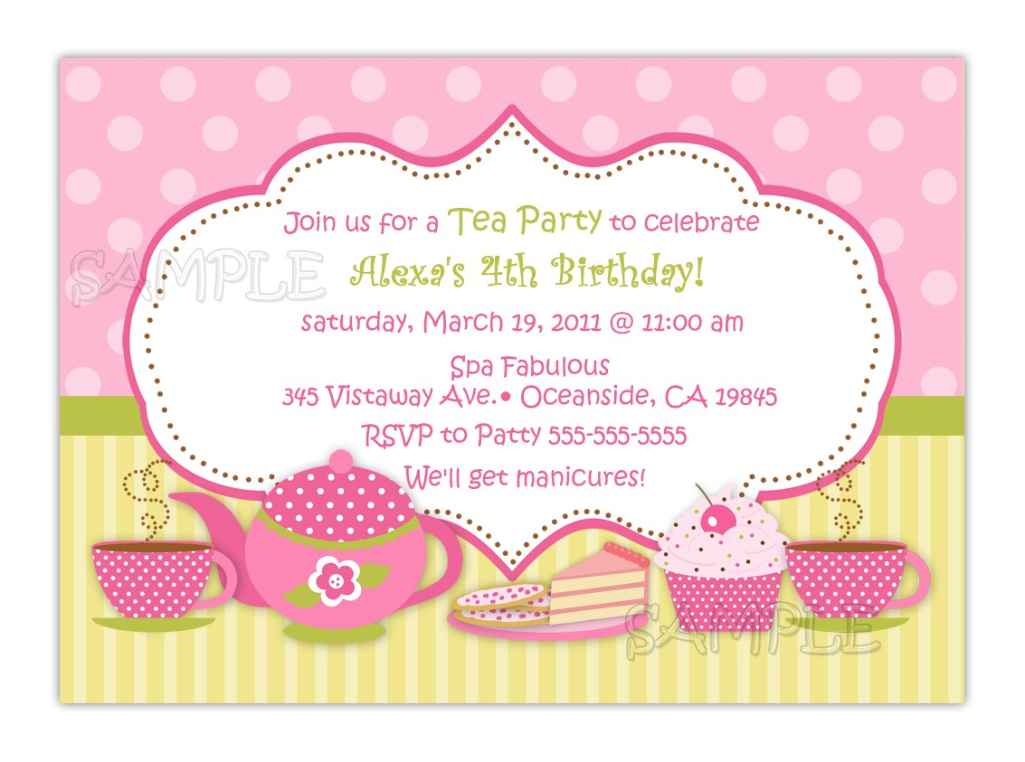 A Complete Guide To Tea Party Invitations Template!