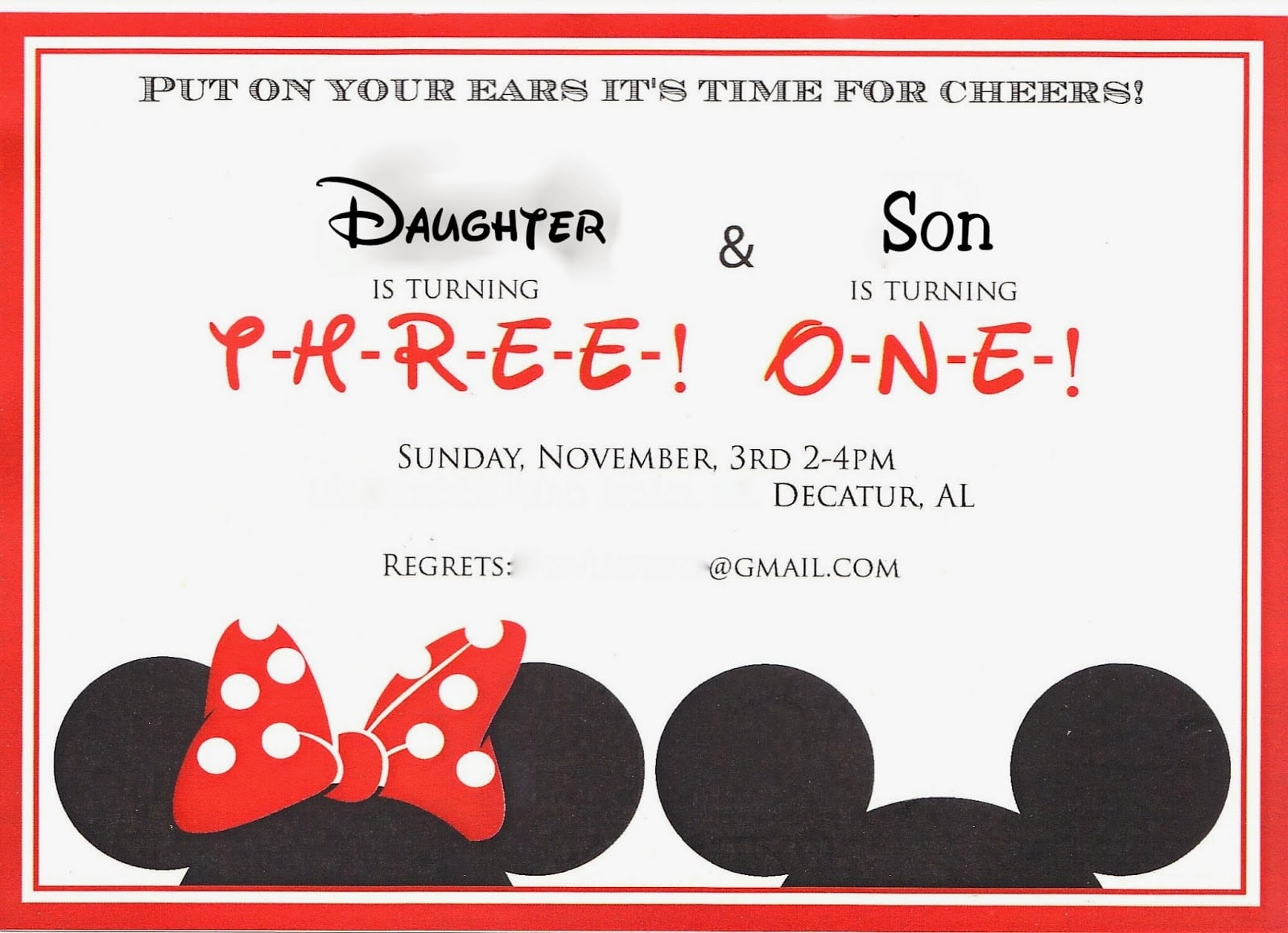 A Disney Mom's Thoughts  Minnie & Mickey Party Invitation