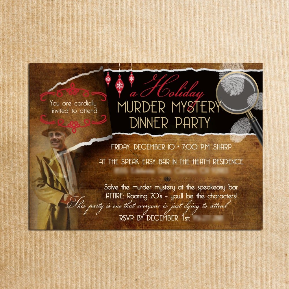Adult Personalized Murder Mystery Dinner By Razzledazzledesign