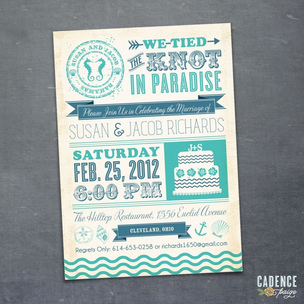 After Wedding Party Invitation Perfect After Wedding Party