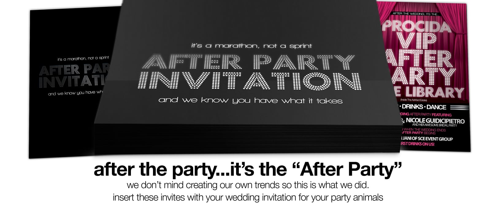 After Wedding Party Invitations Fancy After Wedding Party