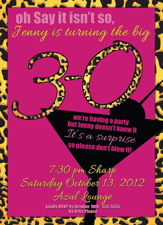 Amusing Free 40th Birthday Party Invitations