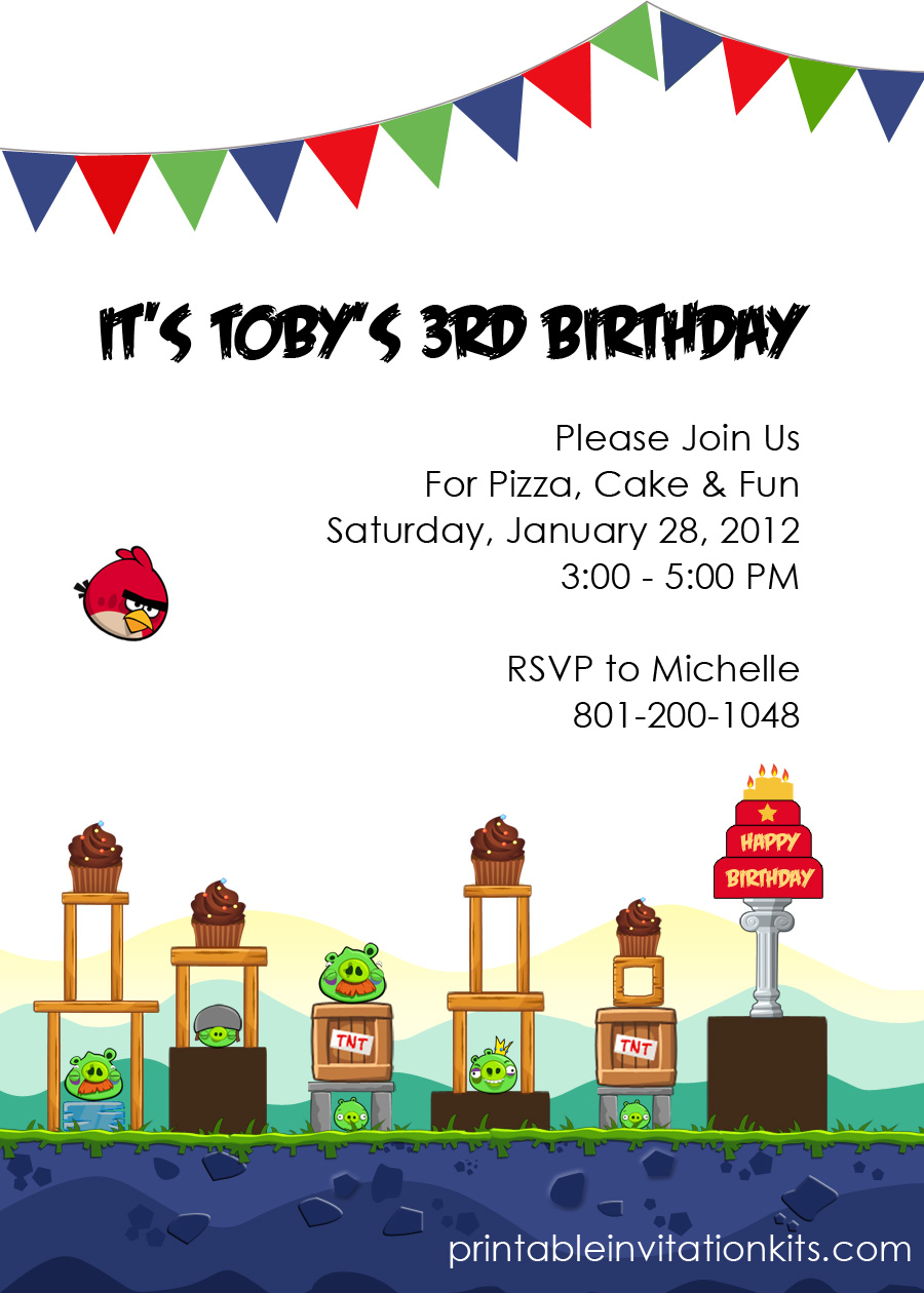 Angry Birds, Bird Birthday Parties And Invitations On Pinterest