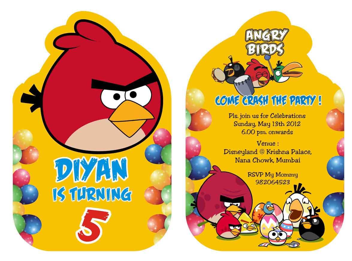 Angry Birds Birthday Invitation