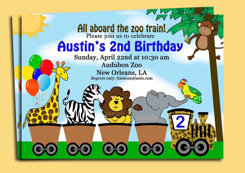 Animal Themed Birthday Party Invitations