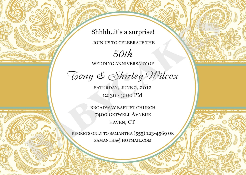 Anniversary Party Invitation Cute Anniversary Party Invitation 74