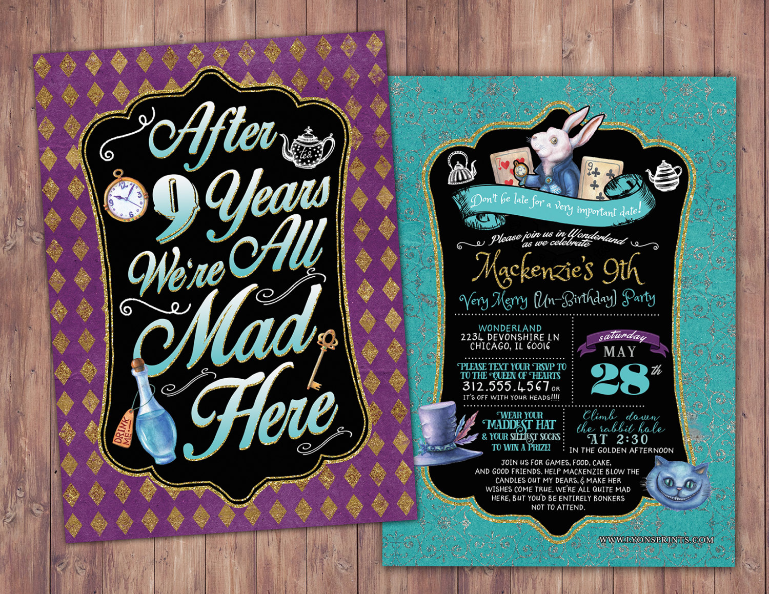 Any Age   Mad Hatter Tea Party, Alice In Wonderland Invitation