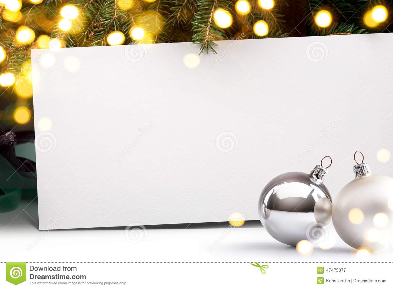 Art Christmas Invitation Background Stock Photo