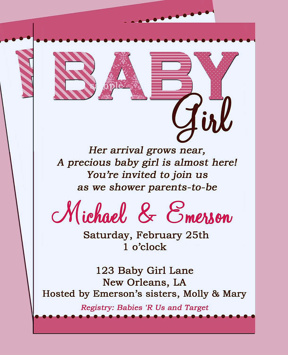 Baby Shower  Invitation Wording For Gift Card Baby Shower