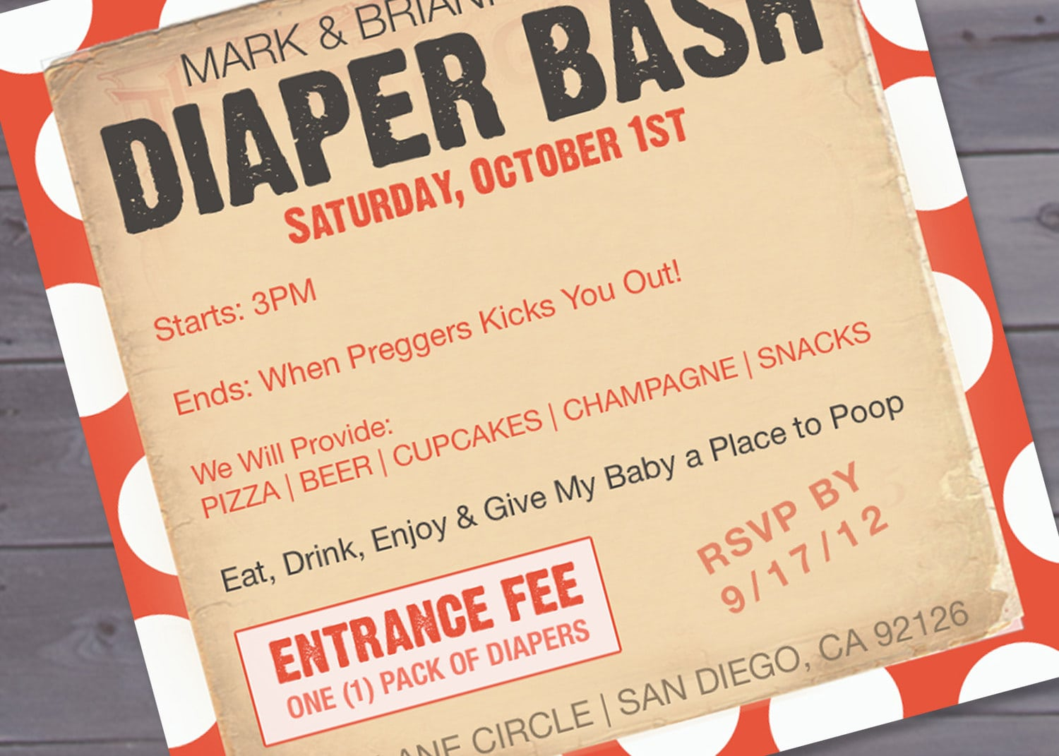 Baby Shower And Diaper Party Invitation Wording