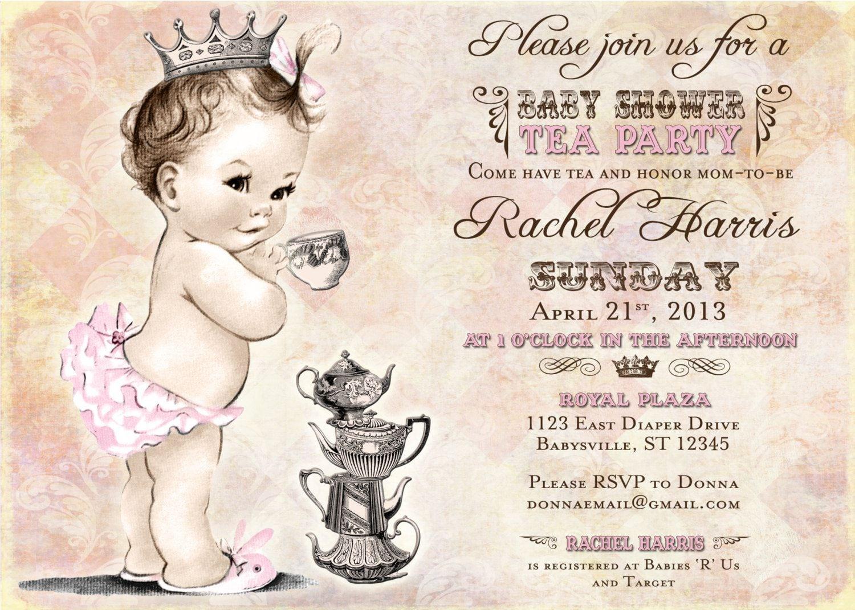 Victorian Tea Party Invitations - Mickey Mouse Invitations Templates