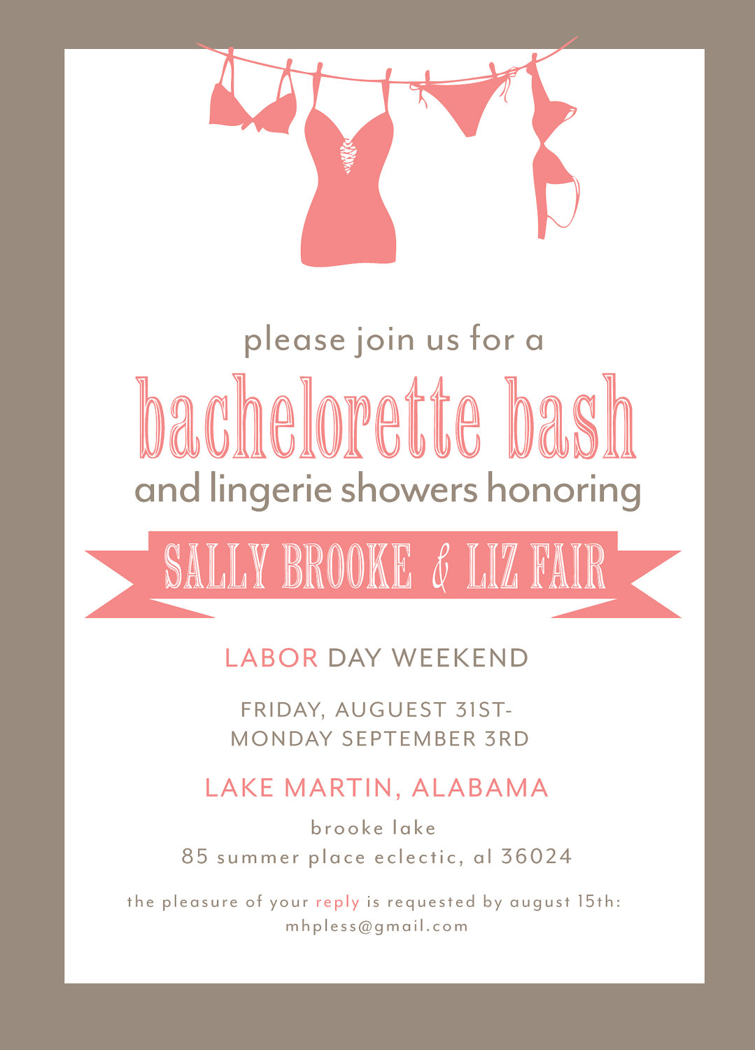 Bachelorette Party Invitations Free   Katinabags Com