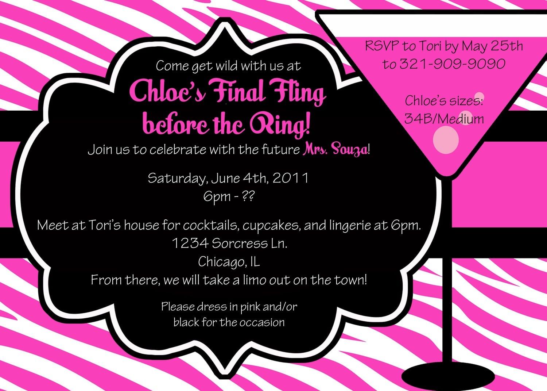 Bachelorette Party Invite Wording
