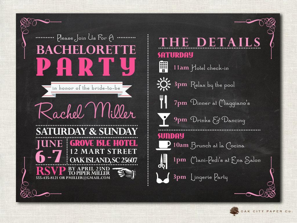Bachelorette Party Invites Templates
