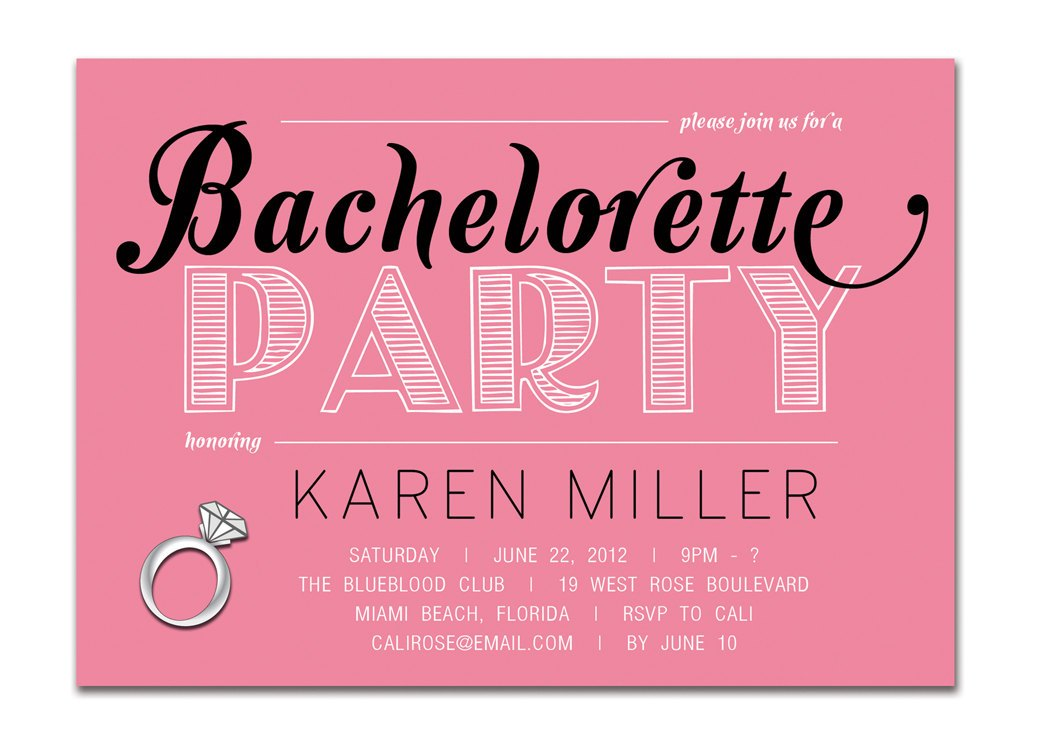 Joint Bachelor Bachelorette Party Invitations - Mickey Mouse ...