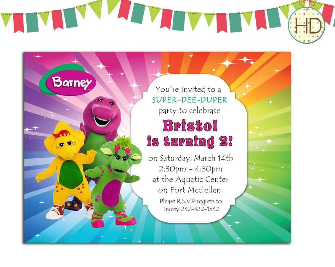 Barney And Friends Birthday Party Ideas