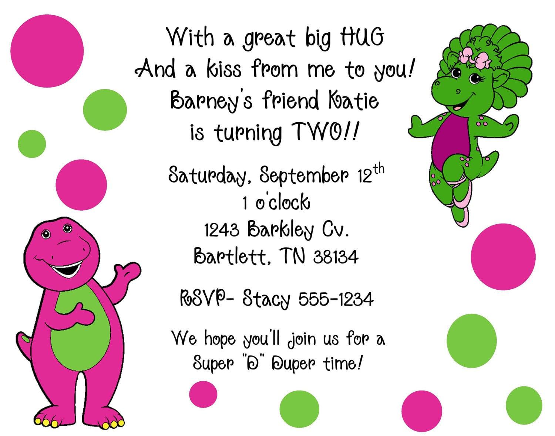 Barney Invite