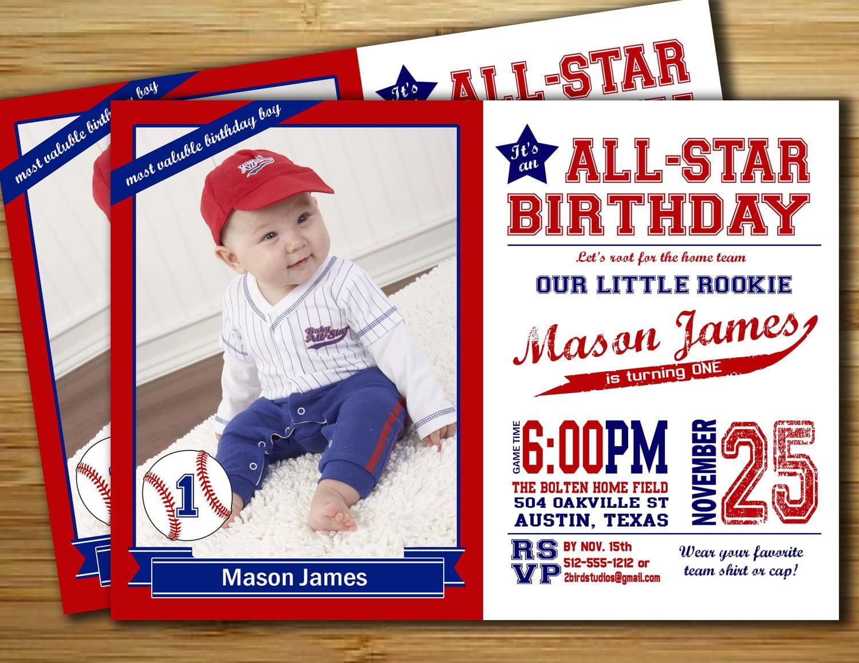 Baseball Birthday Party Invitation   Invite