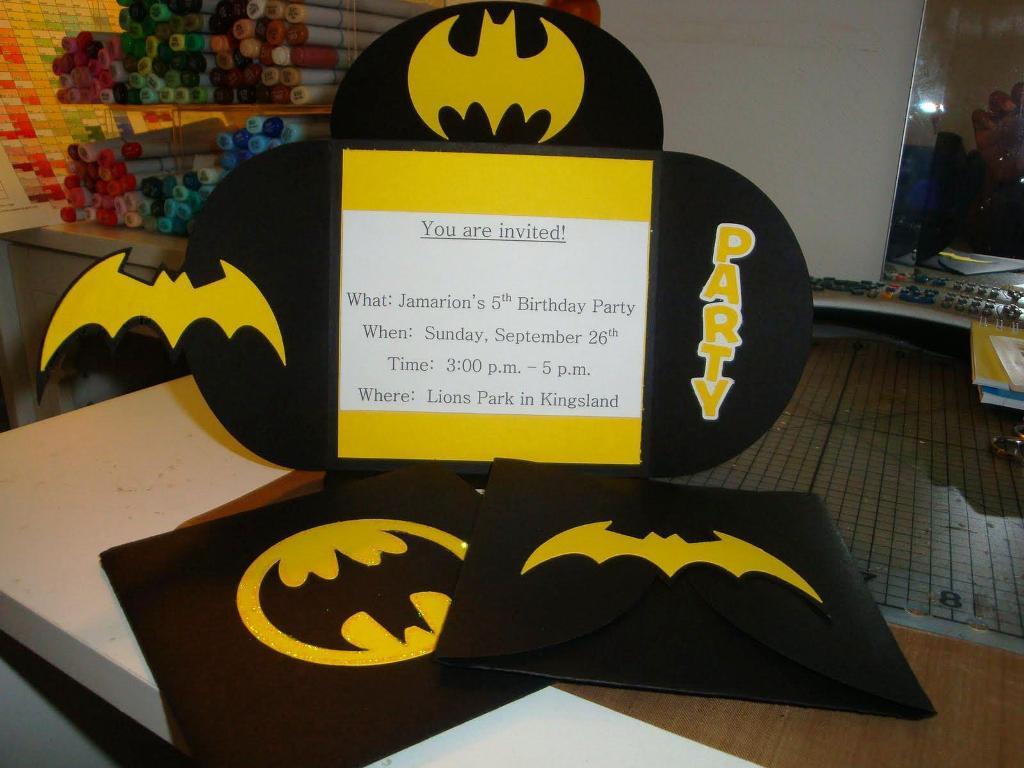 Batman Birthday Party Invitations Alluring Batman Birthday Party