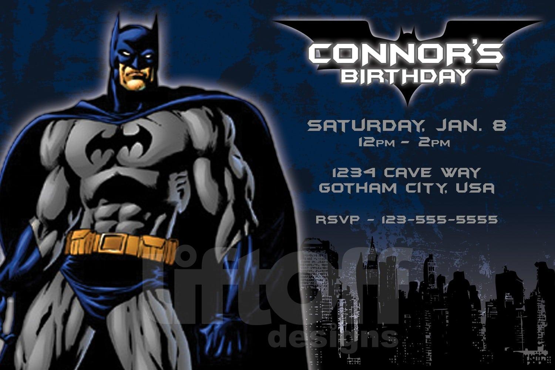 Batman Party Invitation Template Elegant Batman Party Invitation