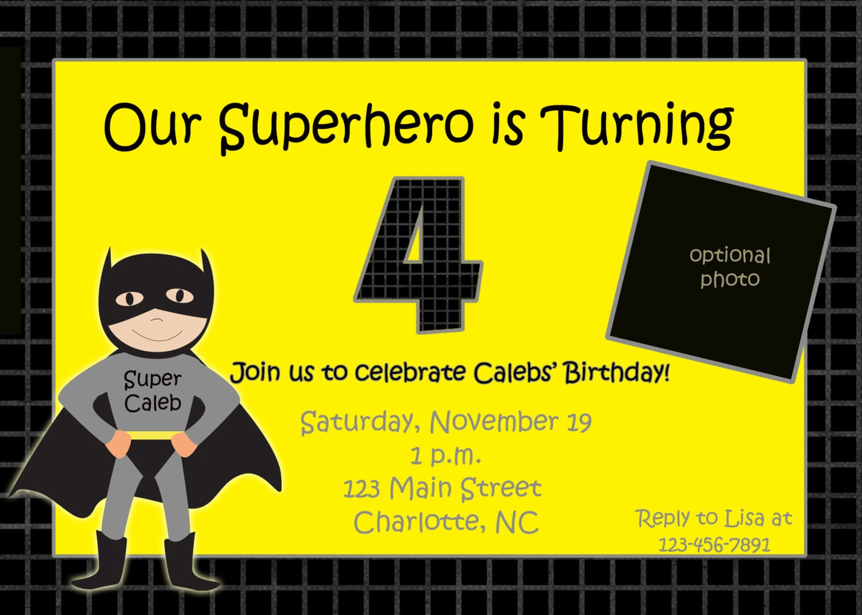 Batman Party Invitation Ideas - Mickey Mouse Invitations Templates