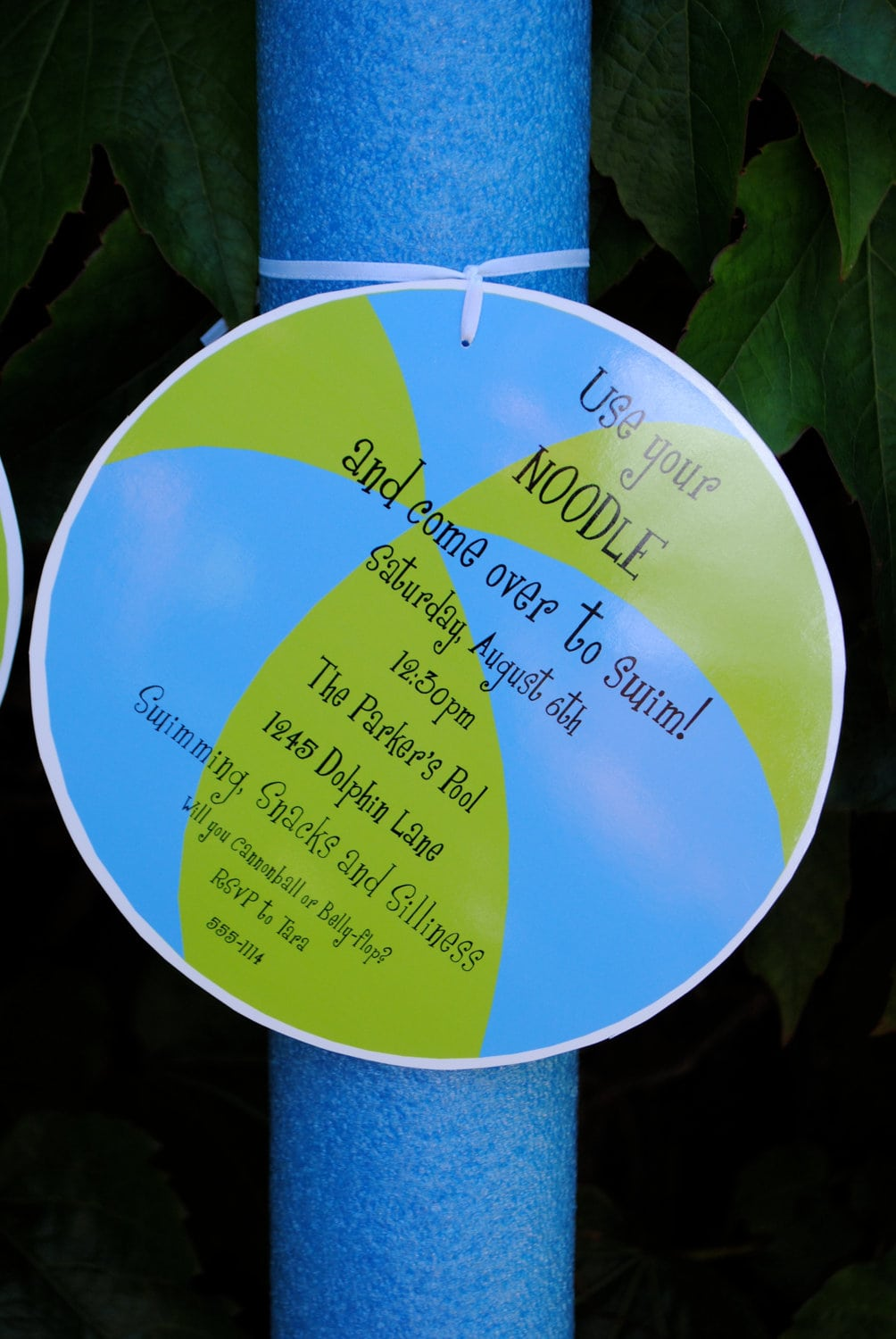 Beach Ball Swim Party Invitations To Be Attached By Jacolynmurphy
