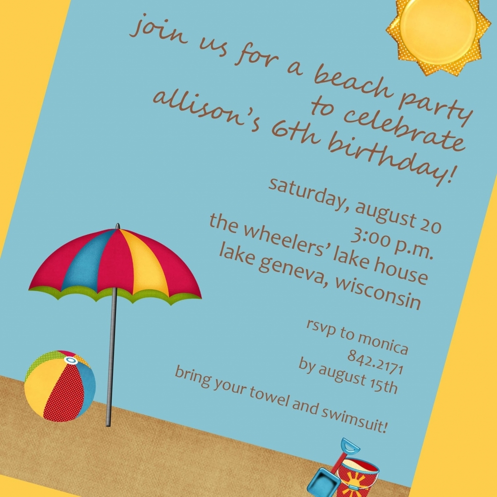 Beach Theme Party Invitations Winter Beach Party Invitation