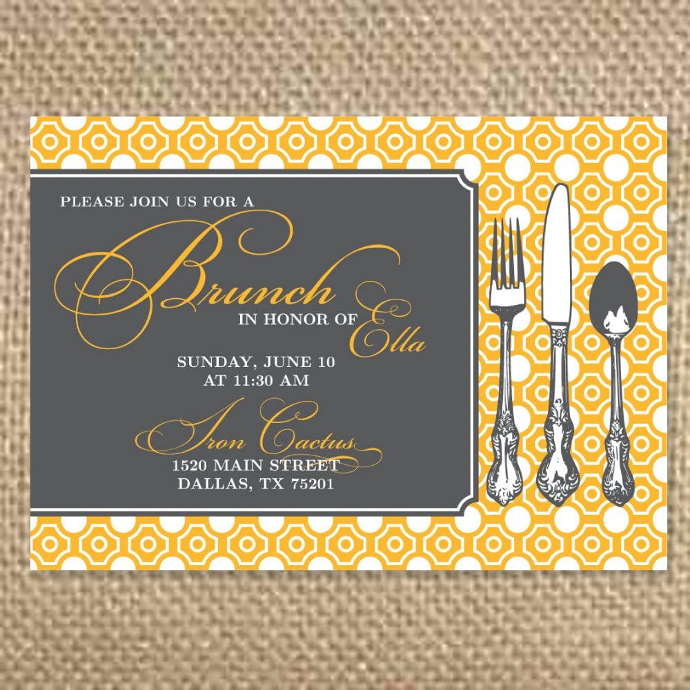brunch invitation template