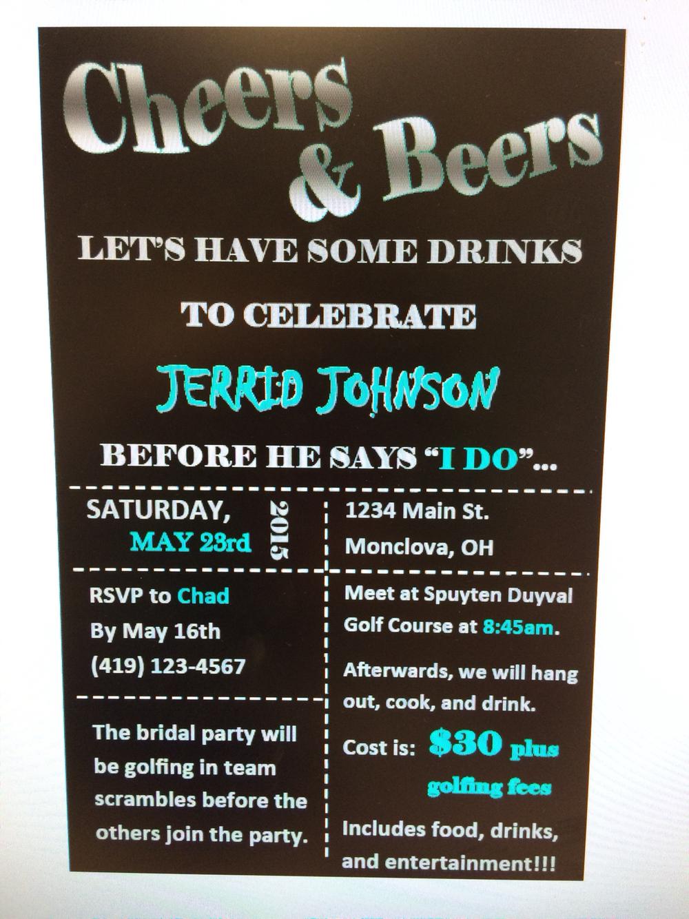Beer Mug Bachelor Party Invitation! Www Delightinvite Com