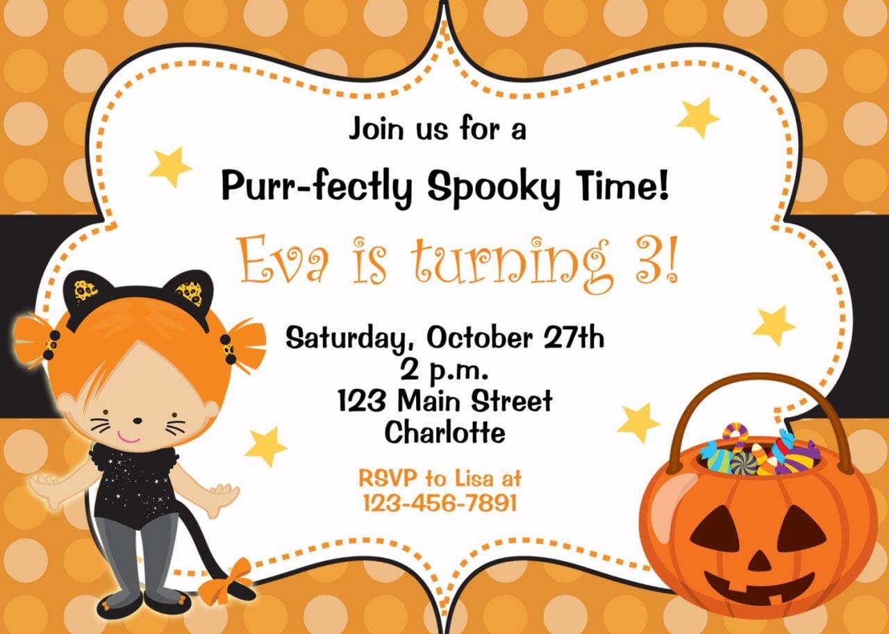 Birthday Halloween Party Invitations