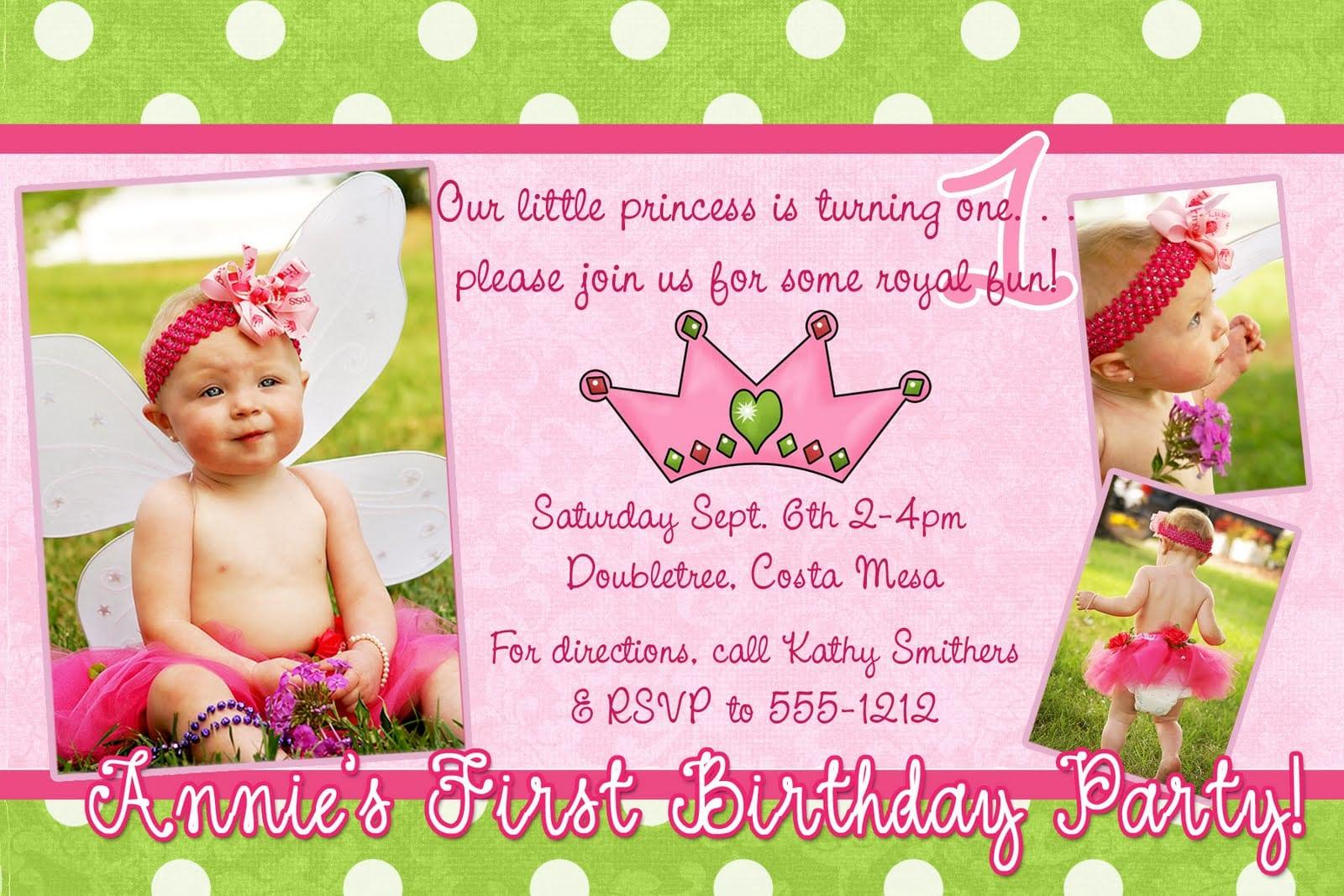Birthday Invitation Letter Sample  1st Birthday Invitation Example