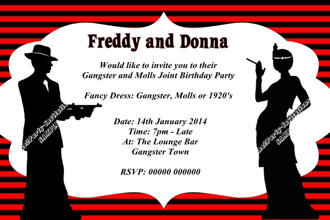 Gangster Party Invitations - Mickey Mouse Invitations Templates