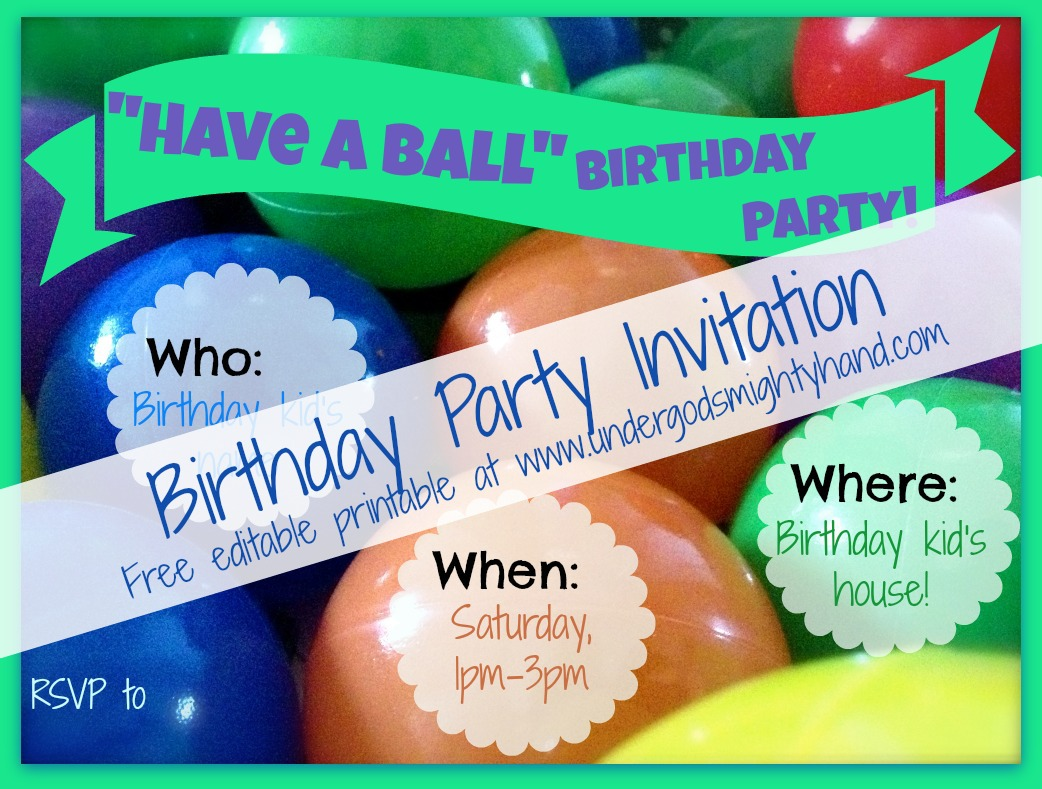 Birthday Party Email Invitations
