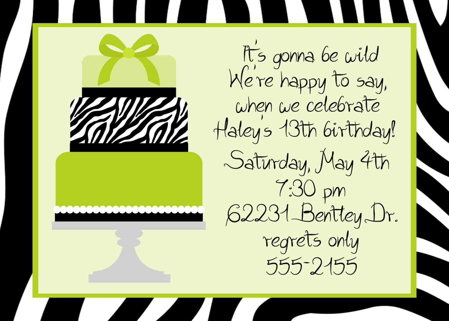 Birthday Party Invitation Message