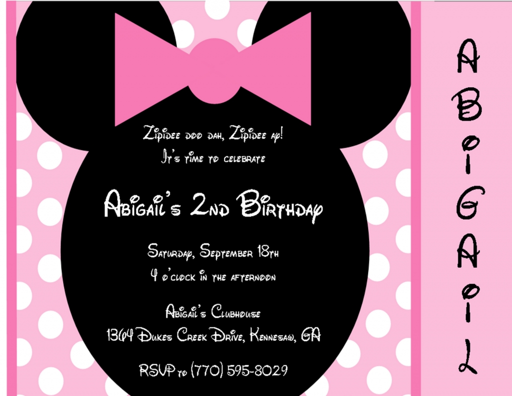 Birthday Party Invitation Text Sample