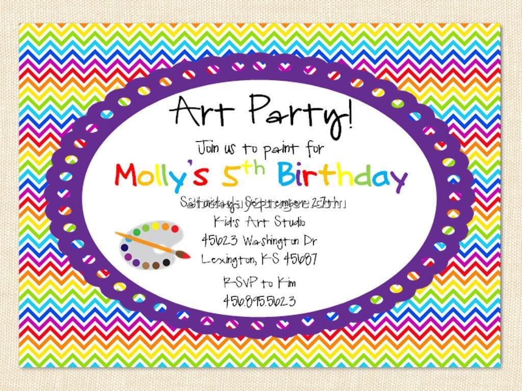 Birthday Party Invitation Wording 1