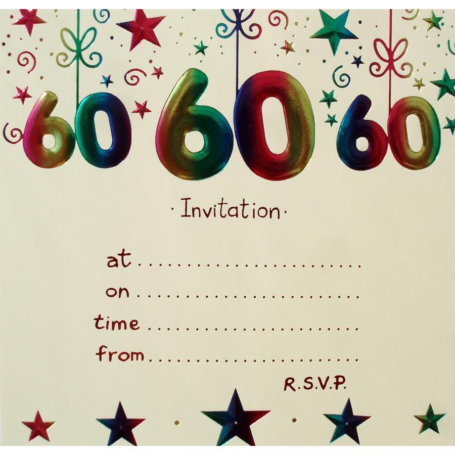 60th Birthday Party Invitations - Mickey Mouse Invitations Templates