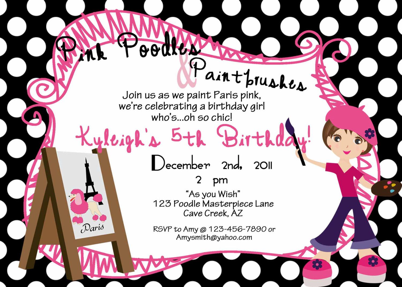 Birthday Party Template Invitation