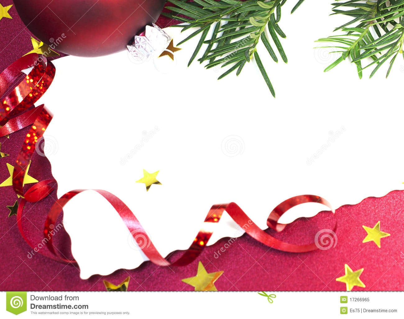 Blank Christmas Invitation Royalty Free Stock Images